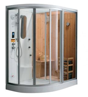 combiné douche sauna