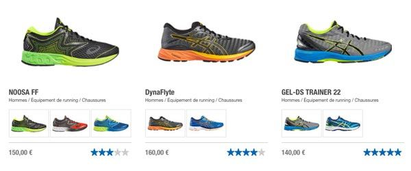 Le confort des baskets Asics