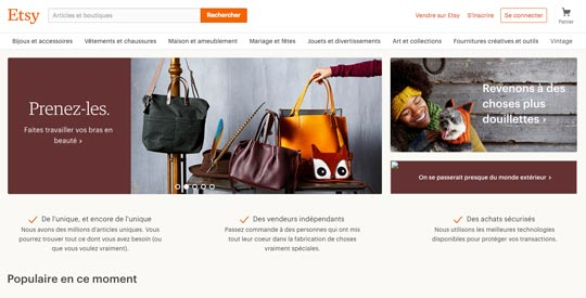 Etsy, le site internet