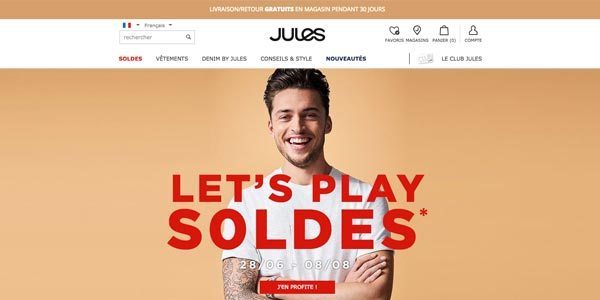 Jules.fr, la boutique de mode masculine