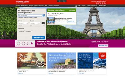 Le site Hotels.com