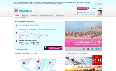 Le site Hotelopia