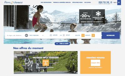 Le site Pierre et Vacances
