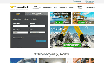 Le site Thomas Cook