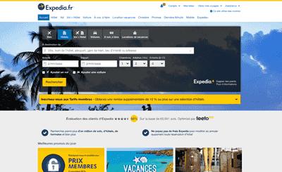 Le site Expedia